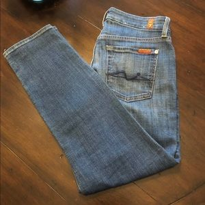 7 For All Man Kind Ankle Jeans 28